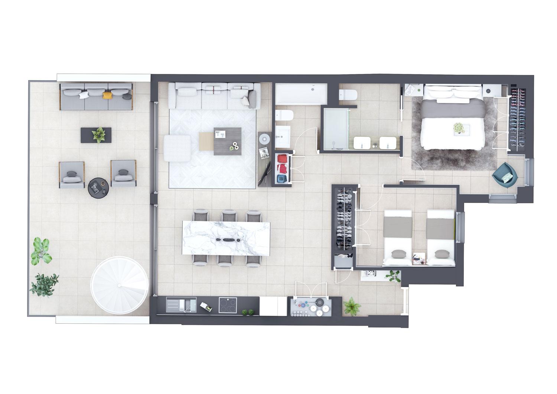 Manilva-2-Plano-2-dormitorios-1