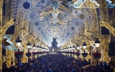 Malaga's stunning Christmas light show